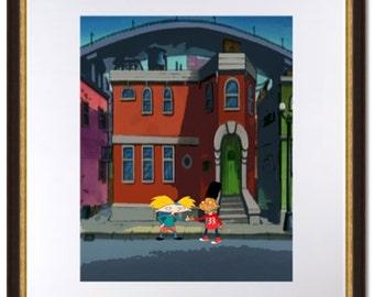 Hey Arnold-90's Nickelodeon-Arnold and Gerald Handshake-Digital Print
