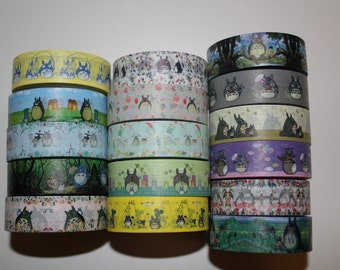 Totoro Washi Tape - 1 roll per design