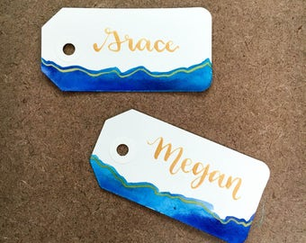 Small watercolor tags / place cards for weddings, events, and gift wrapping