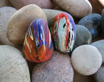 Hand painted Abstract rock painting