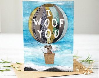 I woof you [Greetings Card]