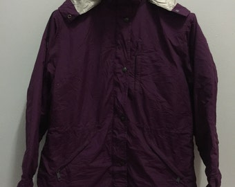 Vintage LL Bean Jacket Oudoor Zipper Hoodie Multicolor