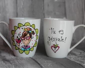 Professor porcelain coffee mug - you're amazing!