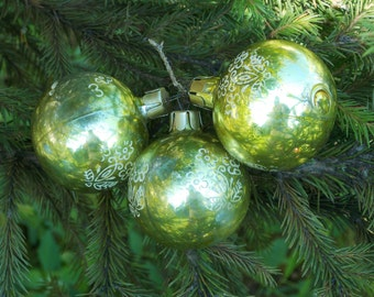 Gifts/for/sisters Gold balls vintage Christmas Ornament mercury glass Christmas Decoration round ball ornaments Christmas bauble tree decor