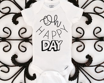 Oh Happy Day Onesie, Baby Onesie, Baby Bodysuit, Cute Onesie