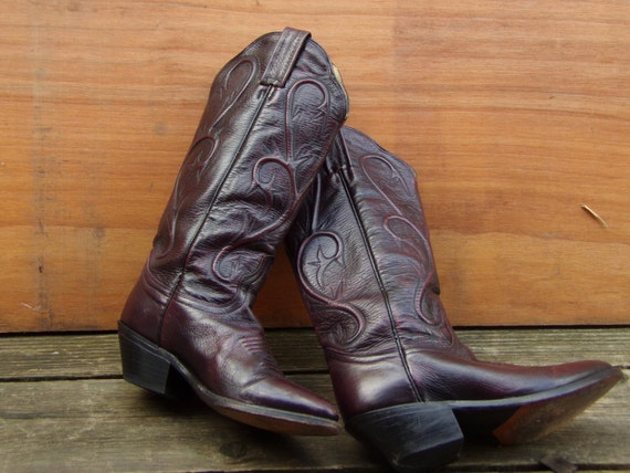 Vintage Dan Post Cowboy Women S Boots Made In Mexico Size