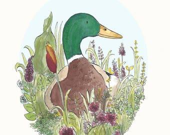 Hello Duck Greetings Card