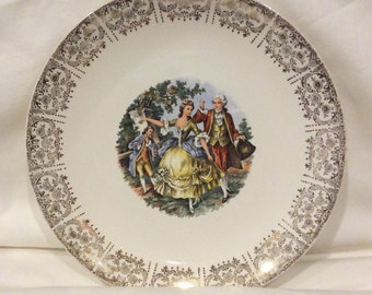 Vintage Homer Laughlin Eggshell Plate with Courting Couple