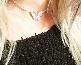 Butterfly choker necklace - boho choker - butterflies - teacher gift - butterfly wings - butterfly jewelry - hippie choker necklace