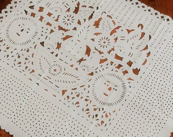 Mexican Papel Picado Square Tablecloth