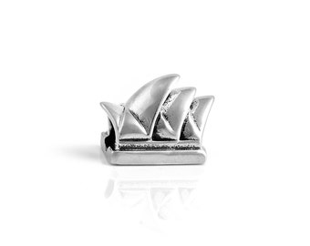 Sydney Opera House Sterling Silver Charm S925 Australia Australian landmark Charm, Silver Sydney Opera House Aussie Charm Jewelry