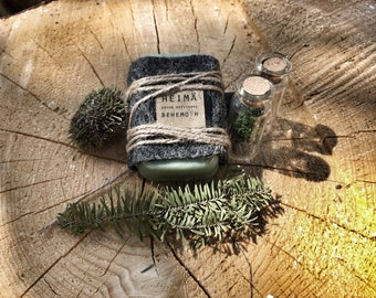 Handmade soap BEHEMOTH spruce | cherry | bergamote•Coldprocess handmade soap fir | cherry | bergamot