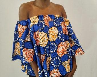 African off shoulder, Off shoulder top, African print off shoulder, Ankara Off Shoulder, Ankara Top,  African top, African clothing