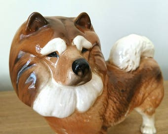 Vintage Dog Figurine Chow Chow Dog Ornament Porcelain figurine Animal Ornament  Beswick Style