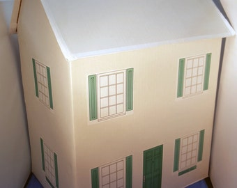 Cardboard Dollhouse Craft Project Kit Basic or Deluxe w/ Glue & Tape Windows Door Doll House