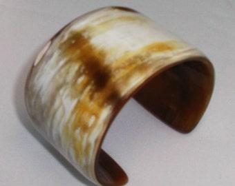 Buffalo horn bracelet  - horn jewelry - KAI-3686
