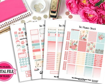 Spring Breeze // Erin Condren // Printable Planner Stickers