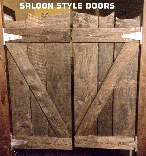 Rustic Reclaimed Pallet Wood Saloon Doors
