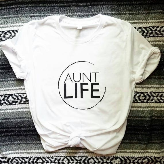 AUNT LIFE Circle, Boyfriend Tee or Tank Top, Aunt Life, Aunt Gift, Aunt Life, Auntie Gift, Auntie Life, Aunt, Best Aunt, Aunt Gifts, Aunt T