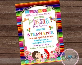 Fiesta Baby Shower Invitation, Fiesta Baby Shower, Fiesta Mexicana Baby  Shower Invitation, Fiesta Mexicana Invitation, Digital File