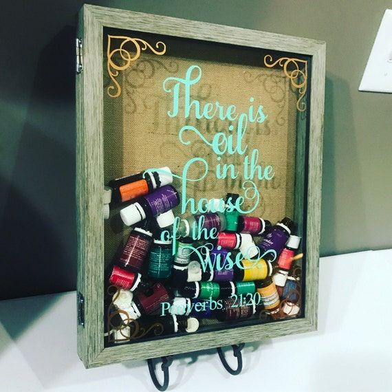 Empty Bottle Essential Oil Display Case Shadow Box Table Top