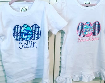Baby toddler childrens Easter egg shirts outfits or just disney outfits. Lots of other colors and options
