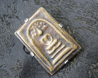 RESERVED Thai Buddhist Amulet Sterling Silver Pin Brooch