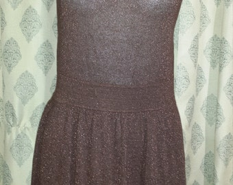 Sleeveless Dress // Lux // Metallic Brown // Small
