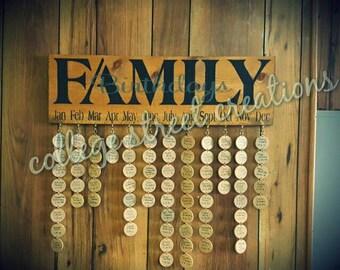 Family birthday tag sign