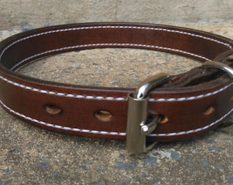 Executive Leather Dog Collar 38mm Wide