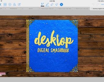 Desktop Digital Smashbook in Blue