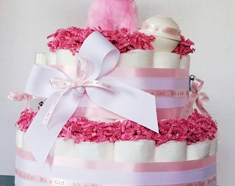 It's a girl diaper cake