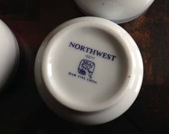 NWA 1940s Northwest Airlines Sake Cups  + Japanese Cups Vintage