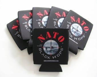 NATO® Military Beer Cooler 6 Pack Neoprene Can Cooler Hunting  Black Hops Beer Bottle Holder