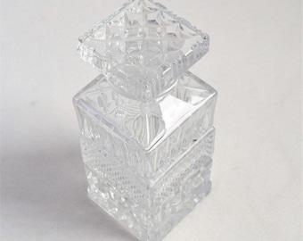 Vintage Glass Liquor Decanter/ Liquor Glass Decanter/ Barware