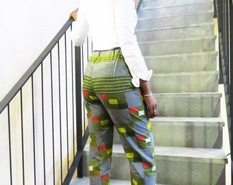 Adult pants ~ Patch pant ~ Gift pant ~ Print trouser ~ African print ~ Casualwear pant ~ African clothing ~ Adult clothing ~ Ready to ship