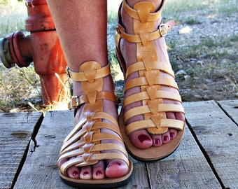 High quality leather sandals,Greek sandals,strappy sandals