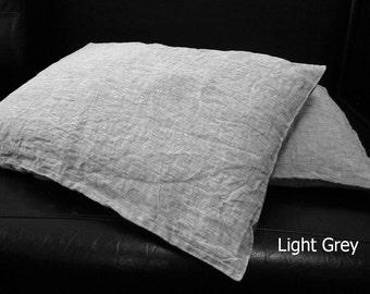 Natural Linen Pillowcase Linen Bedding Linen Pillow Case Envelope closure Bedding King Queen Euro Standard 100 Flax