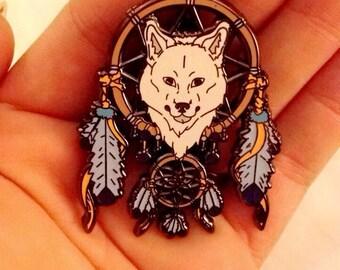 Wolf Dream Catcher Spirit Animal Hat Pin