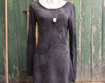 organic simplicity dress in natural black size s/m