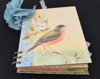 Susan Winget Flowers and Butterflies Wire Bound Mini Album