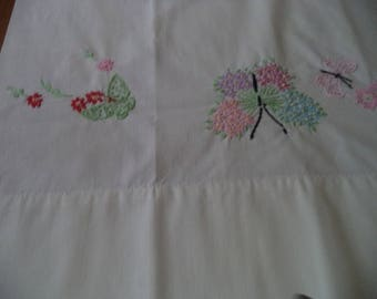 Vintage butterfly pillowcase