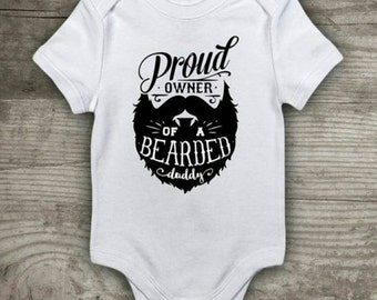 Bearded daddy funny baby vest bodysuit