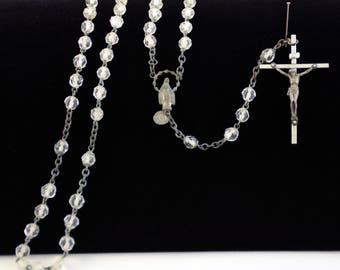 Clear bead Rosary