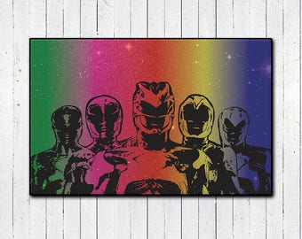 """Power Rangers 11x17"""" Print, Mighty Morphin Power Rangers, 90s Nostalgia, Super Hero Movies, Action Movies, MMPR, Space Print, Scifi Movies"""