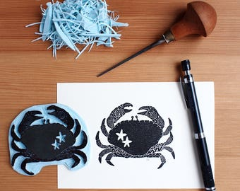 Crab the Sheriff - Original Handprint
