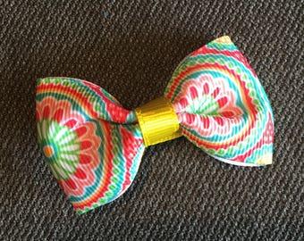 Spring flowers tuxedo hair clip