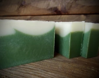 Frosted Balsam Soap, Balsam Fir, Spruce, Essential Oil, Cold Process, Artisan, Evergreen Soap, Vegan, Handmade