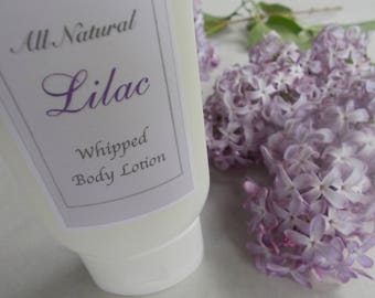 Lilac - Whipped Body Lotion -  All Natural Fragrance- Shea Butter, Apricot Kernel Oil, Vitamin E -  Natural Skin Care - Gift for Her