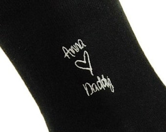 Father's Day, Birthday etc. embroidered or monogram socks